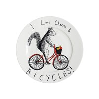 Jimbobart 'I Love Cheese And Bicycles' Side Plate