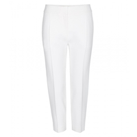 Alexander Mcqueen Cropped Crepe Trousers Ivory