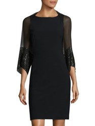 Saks Fifth Avenue Sequined Silk Shrug Black
