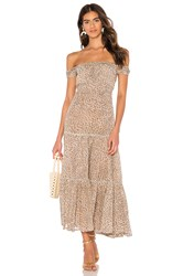 Spell And The Gypsy Collective Frankie Shirred Sundress Brown