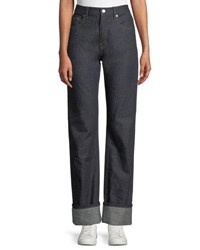 Helmut Lang Re Edition Turn Up Straight Leg Jeans Indigo