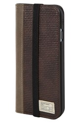 Hex 'Icon' Iphone 6 And 6S Wallet Case Brown Brown Woven Leather