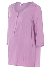 Mama Licious Karo Lia Tunic Smoky Grape Rose