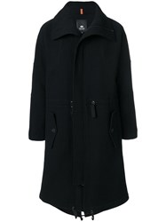 Tom Rebl Zip Up Trench Coat Cotton Polyamide Polyester Black