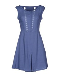 Gattinoni Short Dresses Blue