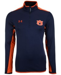Under Armour Men's Auburn Tigers Smu Quarter Zip Pullover Navy Orange