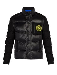 Fendi Logo Patch Puffer Jacket Black