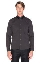 Robert Geller Robert Oxford Button Up Charcoal
