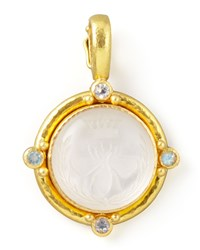 Rock Crystal Queen Bee Intaglio Pendant Elizabeth Locke