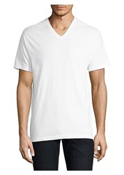 Saks Fifth Avenue Collection Three Pack V Neck Tee Set White