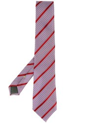 Canali Striped Tie Pink