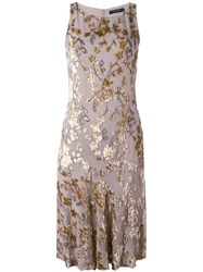 Etro Embroidered Shift Dress Grey
