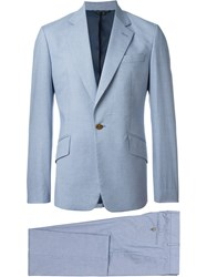 Vivienne Westwood Man Micro Dogtooth Suit Blue