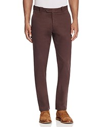 Bloomingdale's The Men's Store At Brushed Cotton Straight Fit Pants Brown