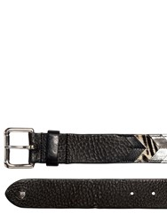 Htc Hollywood Trading Company 40Mm Patchwork Ponyskin And Leather Belt