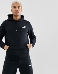 Puma Hoodie With Small Logo In Black Black