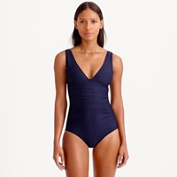 J.Crew Dd Cup Ruched Femme One Piece Swimsuit