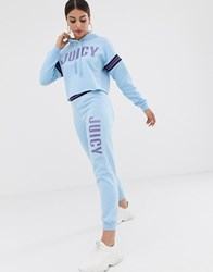 Juicy Couture By Logo Jogger With Cuffed Hem Blue