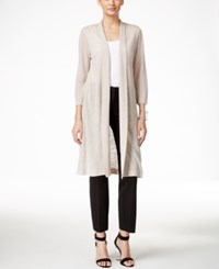 Alfani Solid Duster Cardigan Only At Macy's French Stone