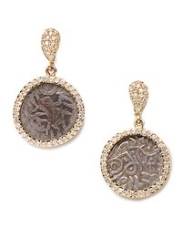 Antiquity 20K Dangling Coin Earrings With Diamonds Yellow Coomi