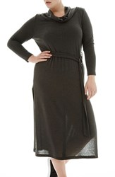Elvi Plus Size Women's Jersey Cowl Neck Tunic