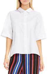 Vince Camuto Women's Elbow Sleeve Oversize Shirt Ultra White