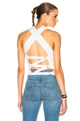 3.1 Phillip Lim Crochet Back Tie Tank In White