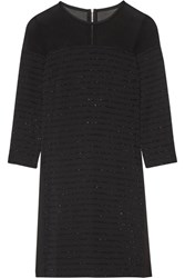 Karl Lagerfeld Tinsel Trimmed Paneled Crepe Black