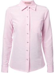 Michael Kors Rhinestone Button Shirt Pink And Purple