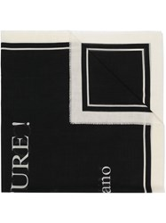 Moschino Couture Logo Scarf Black
