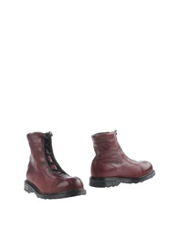 Cult Ankle Boots Maroon