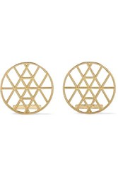 Grace Lee Geo Disc Gold Earrings One Size