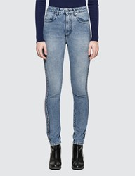 Msgm Straight High Rise Jeans