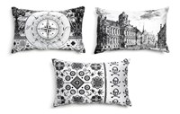 Moooi Heritage Pillows Set Of 3 Black
