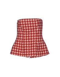 Douuod Tube Tops Red
