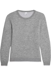 Iris And Ink Aida Wool Cashmere Blend Sweater Gray