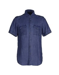 Messagerie Denim Denim Shirts Men Blue