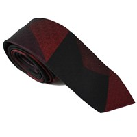 Lords Of Harlech Patchwork Camo Tie In Red Red Black