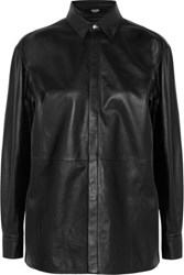 Versus By Versace Leather Shirt Black