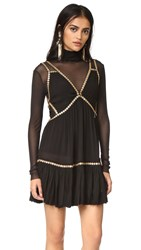 Free People Shine Marisol Mini Dress Black