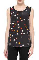 Akris Punto Women's Polka Dot Silk And Wool Shell