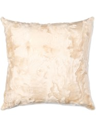 Sies Marjan Beige Shearling Square Cushion Nude And Neutrals