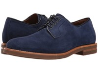 Aquatalia By Marvin K Collin Light Navy Dress Suede Men's Lace Up Casual Shoes Blue