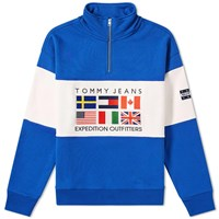 Tommy Jeans 6.0 Outdoors Half Zip Sweat M25 Blue