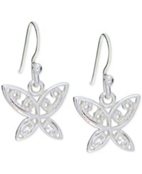 Giani Bernini Filigree Butterfly Drop Earrings In Sterling Silver Only At Macy's