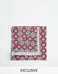 Reclaimed Vintage Mosaic Pocket Square Red