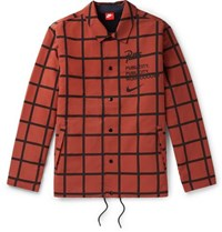Nike Patta Checked Shell Jacket Brown