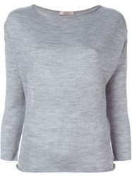 Liska Boat Neck Sweater Grey