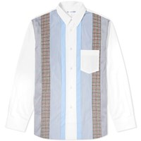 Comme Des Garcons Shirt Multi Fabric Panel Shirt White