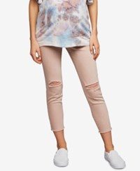 A Pea In The Pod Maternity Distressed Skinny Jeans Pink